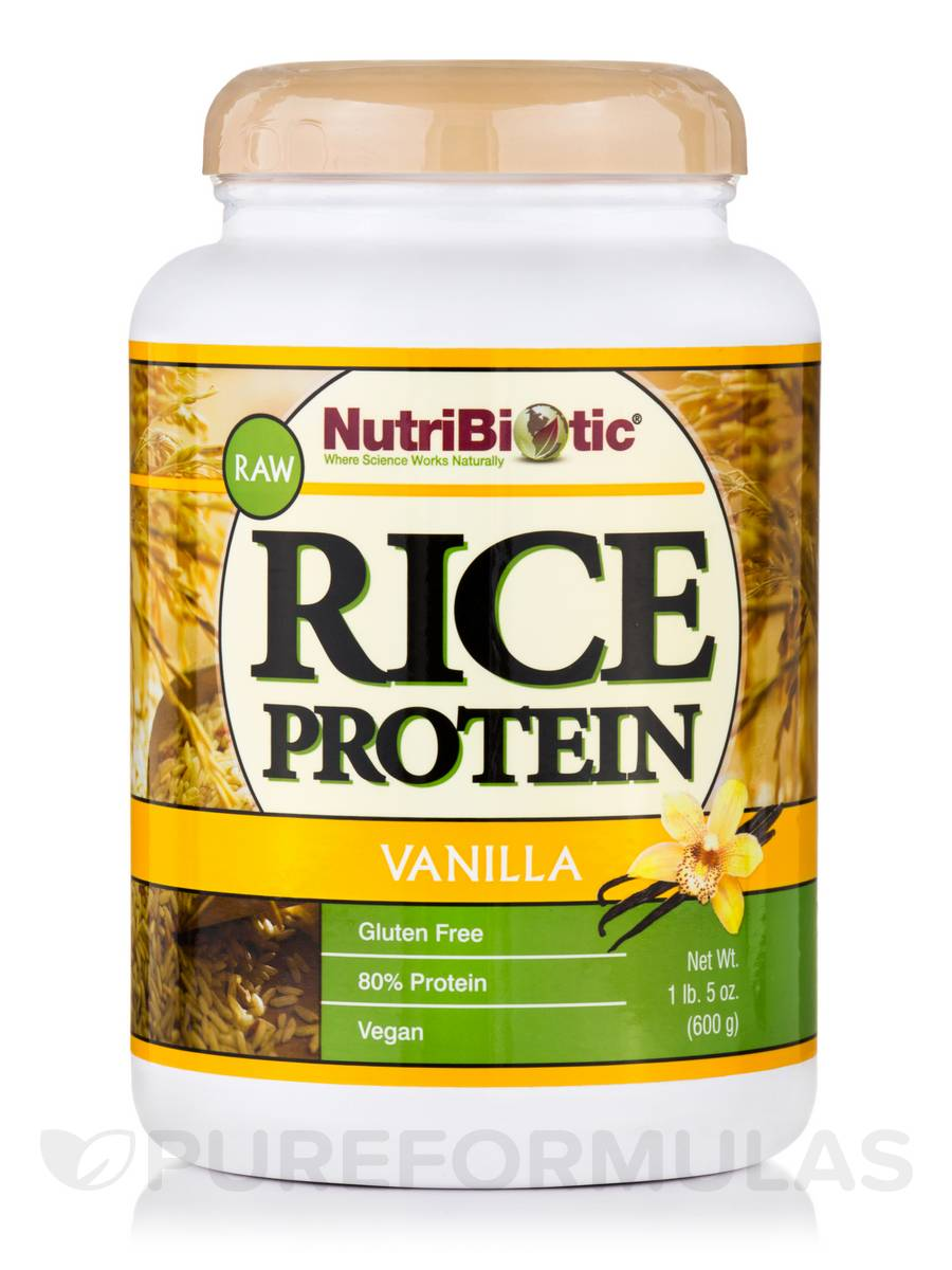 Vegan Vanilla Rice Protein - 21 oz (600 Grams)