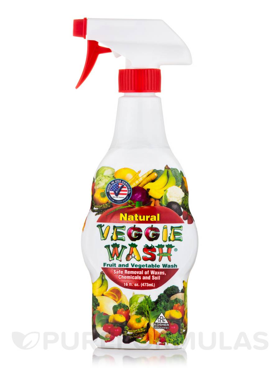 Veggie Wash® Natural Fruit and Vegetable Wash with Trigger Sprayer - 16 fl. oz (473 ml)