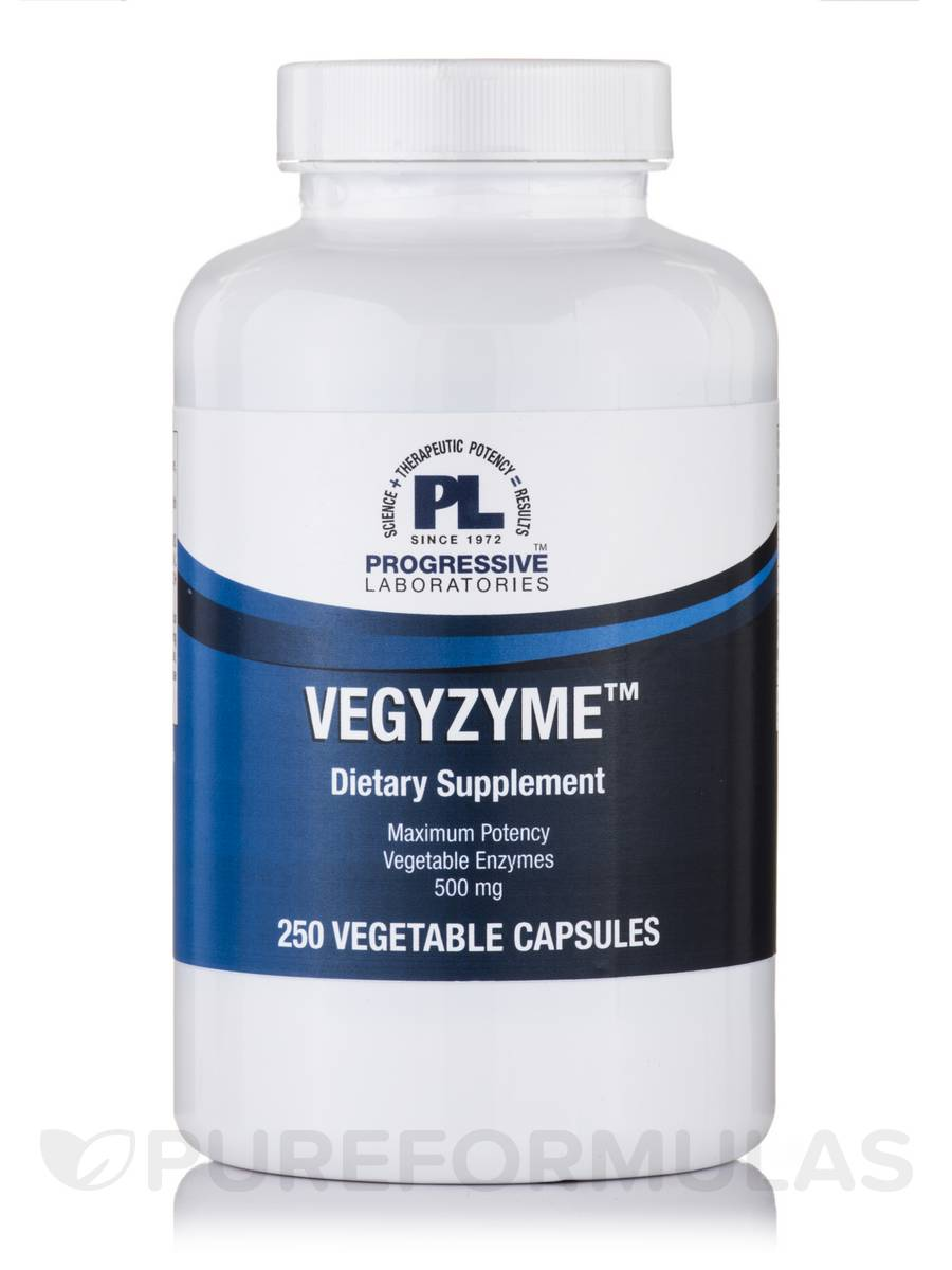 Vegyzyme 500 mg - 250 Vegetable Capsules