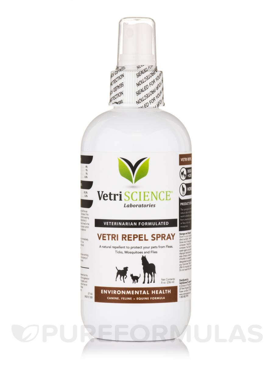 Vetri-Repel Flea & Tick Spray (Dogs, Cats & Horses) - 8 oz (236 ml)