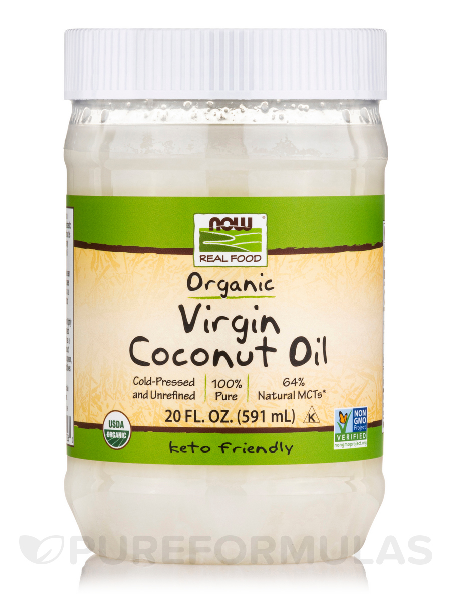 NOW® Real Food - Virgin Coconut Oil (Certified Organic) - 20 fl. oz (591 ml)
