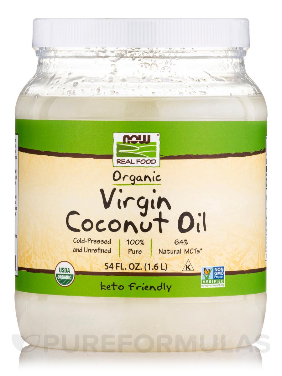 NOW® Real Food - Virgin Coconut Oil (Certified Organic) - 54 fl. oz (1600 ml)