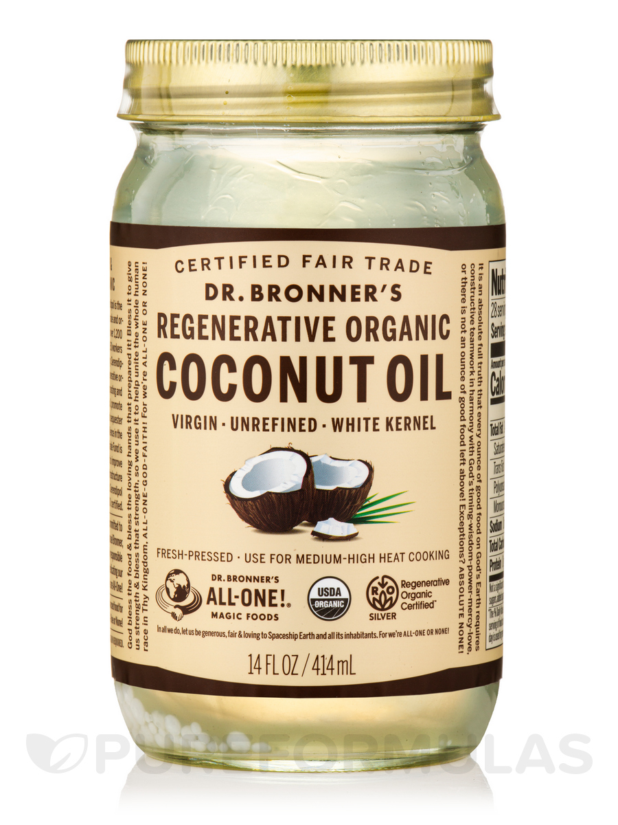 Fresh-Pressed Virgin Coconut Oil (White Kernel Unrefined - Mild Delicate Flavor) - 14 fl. oz (414 ml)
