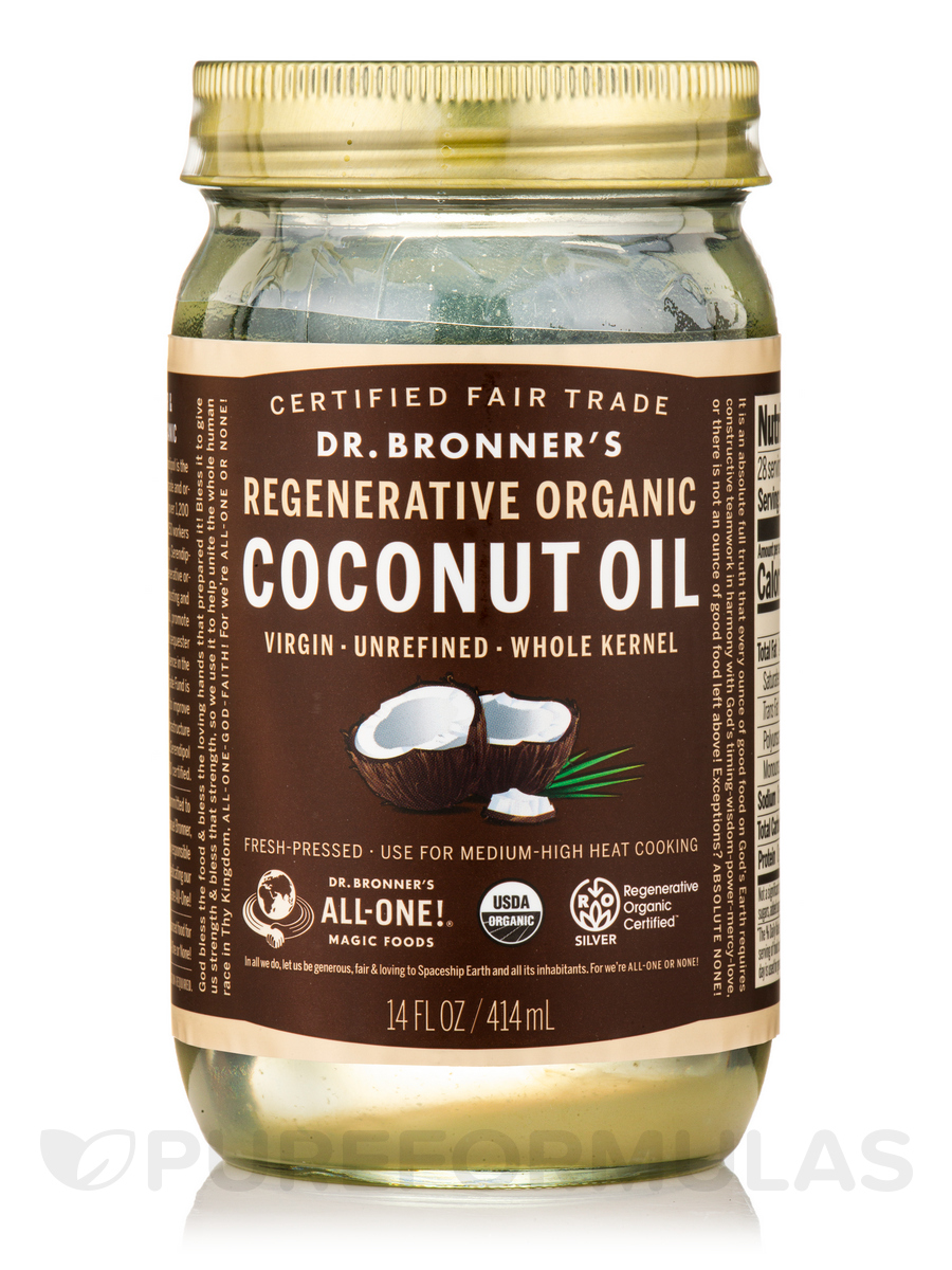 Organic Virgin Coconut Oil (Fresh-Pressed & Unrefined) - 14 fl. oz (414 ml)