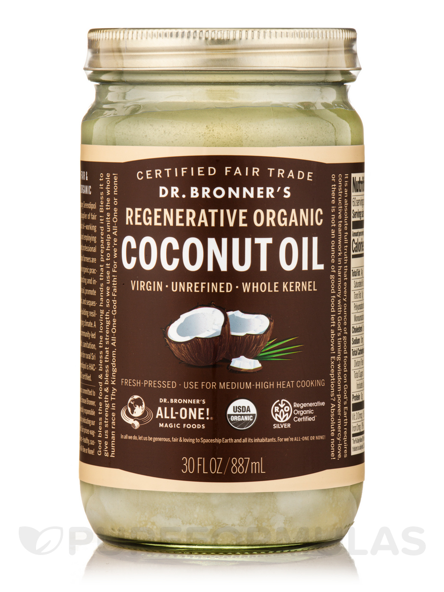 Organic Virgin Coconut Oil (Fresh-Pressed & Unrefined) - 30 fl. oz (887 ml)