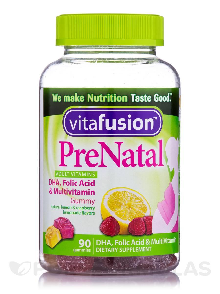 PreNatal DHA, Folic Acid & Multivitamin Gummy (Assorted Flavors) - 90 Gummies