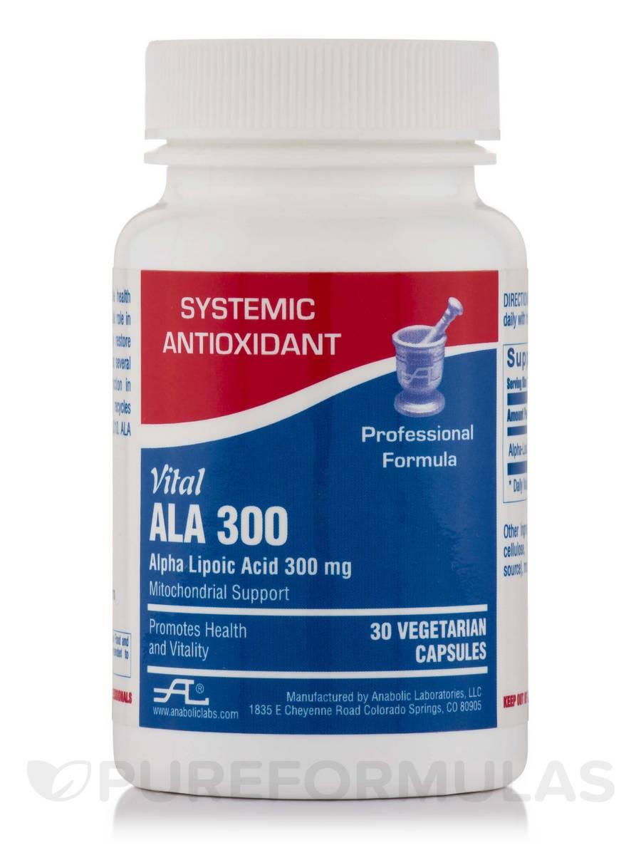 Vital ALA 300 (Alpha Lipoic Acid) - 30 Vegetarian Capsules