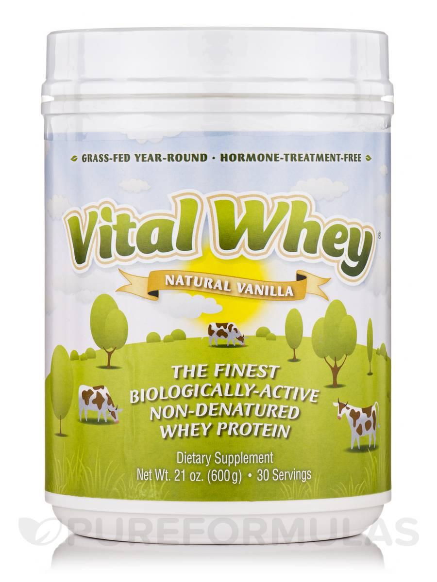 Vital Whey Natural Vanilla Flavor - 21 oz (600 Grams)
