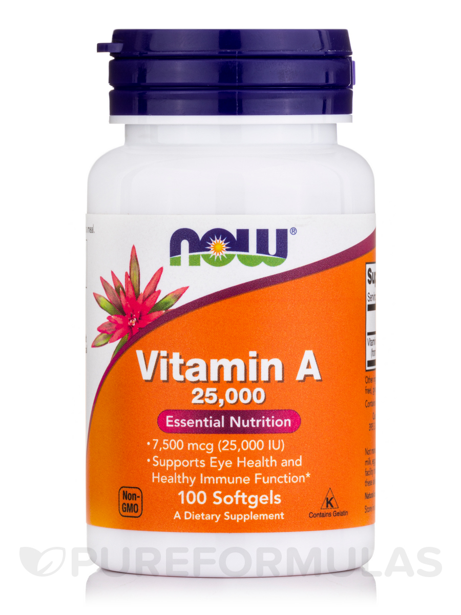 Vitamin A 25000 IU - 100 Softgels