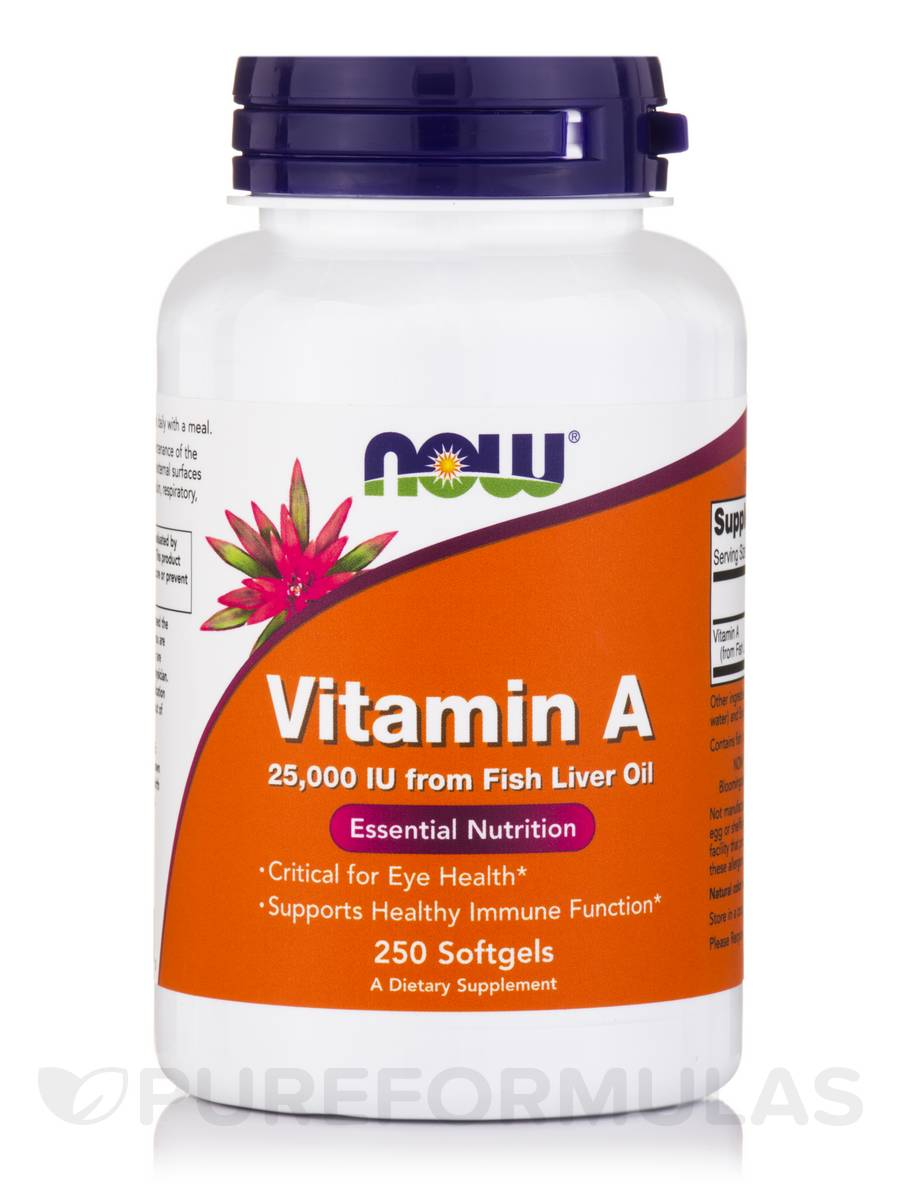 Vitamin A 25000 IU - 250 Softgels
