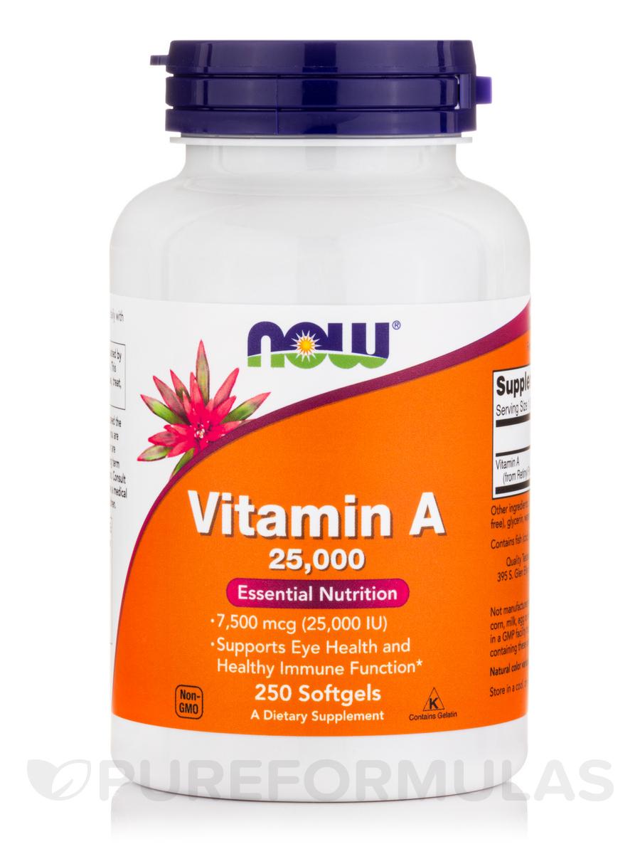 Vitamin A 25000 IU - 250 Softgels