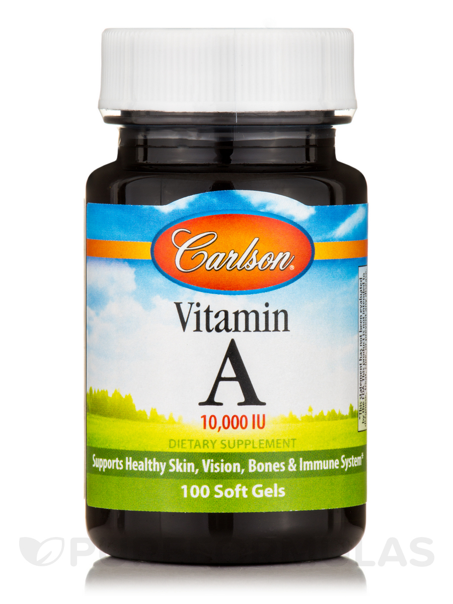 Vitamin A Natural 10,000 IU - 100 Soft Gels