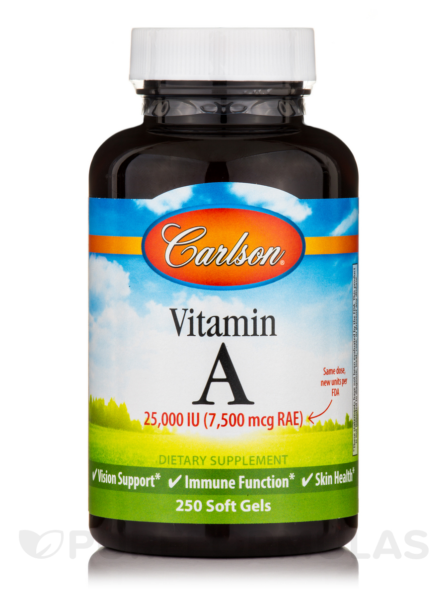Vitamin A 25,000 IU - 250 Soft Gels