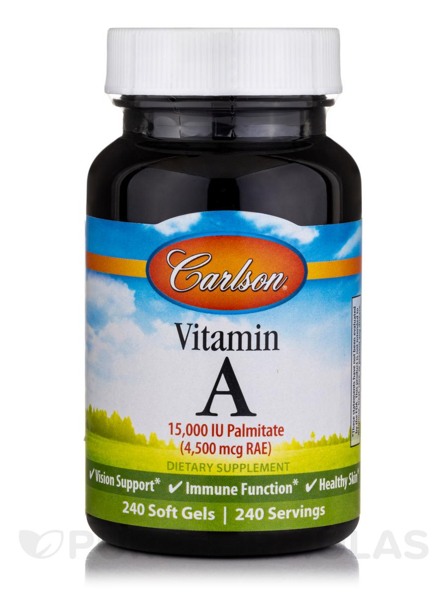 Vitamin A Palmitate 15,000 IU - 240 Soft Gels