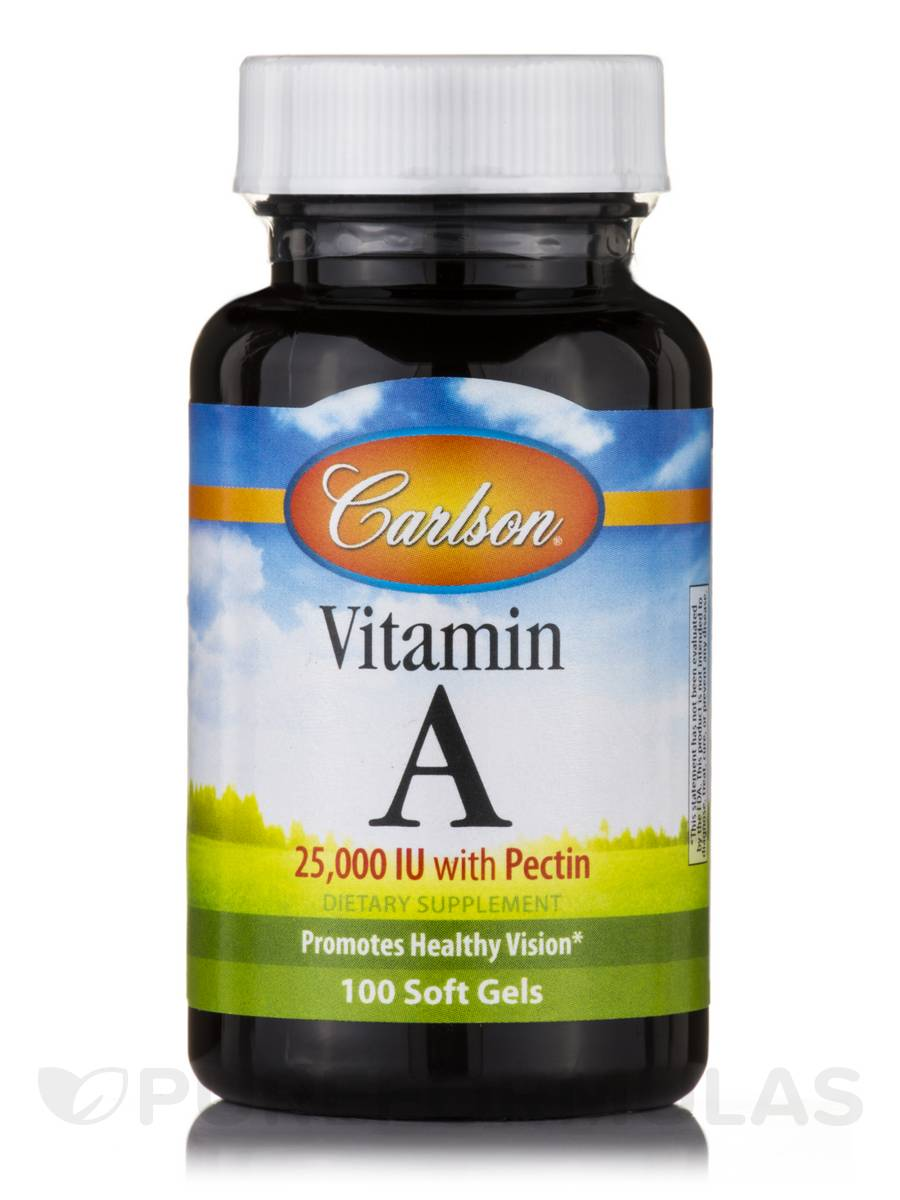 Vitamin A 25,000 IU with Pectin - 100 Soft Gels