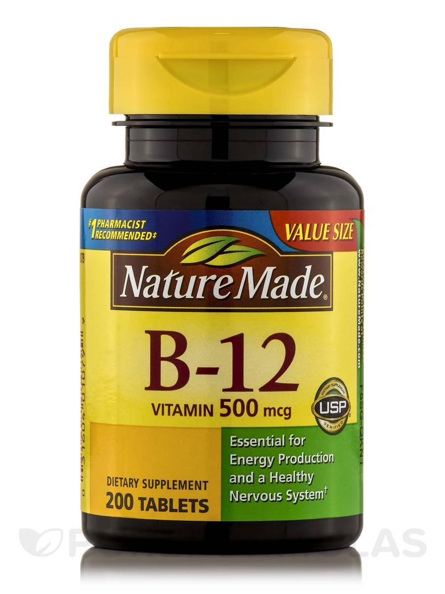 Vitamin B-12 500 mcg - 200 Tablets