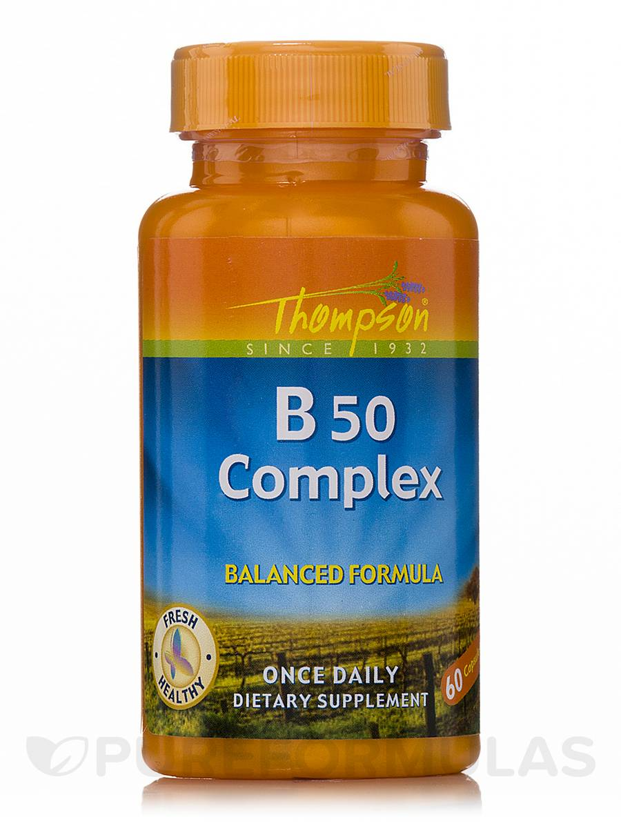 Vitamin B 50 Complex (Balanced Formula) - 60 Capsules