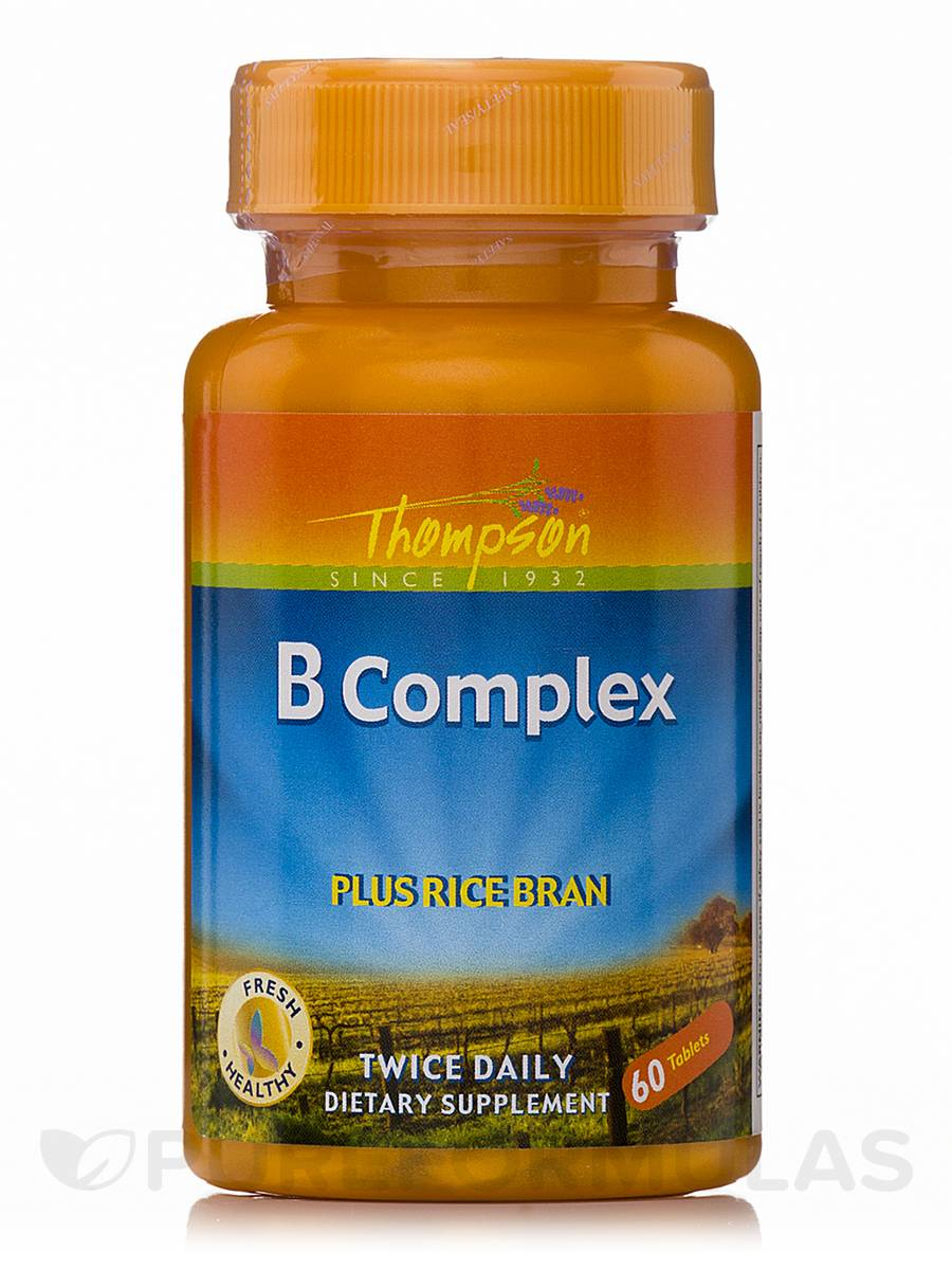 Vitamin B Complex plus Rice Bran - 60 Tablets