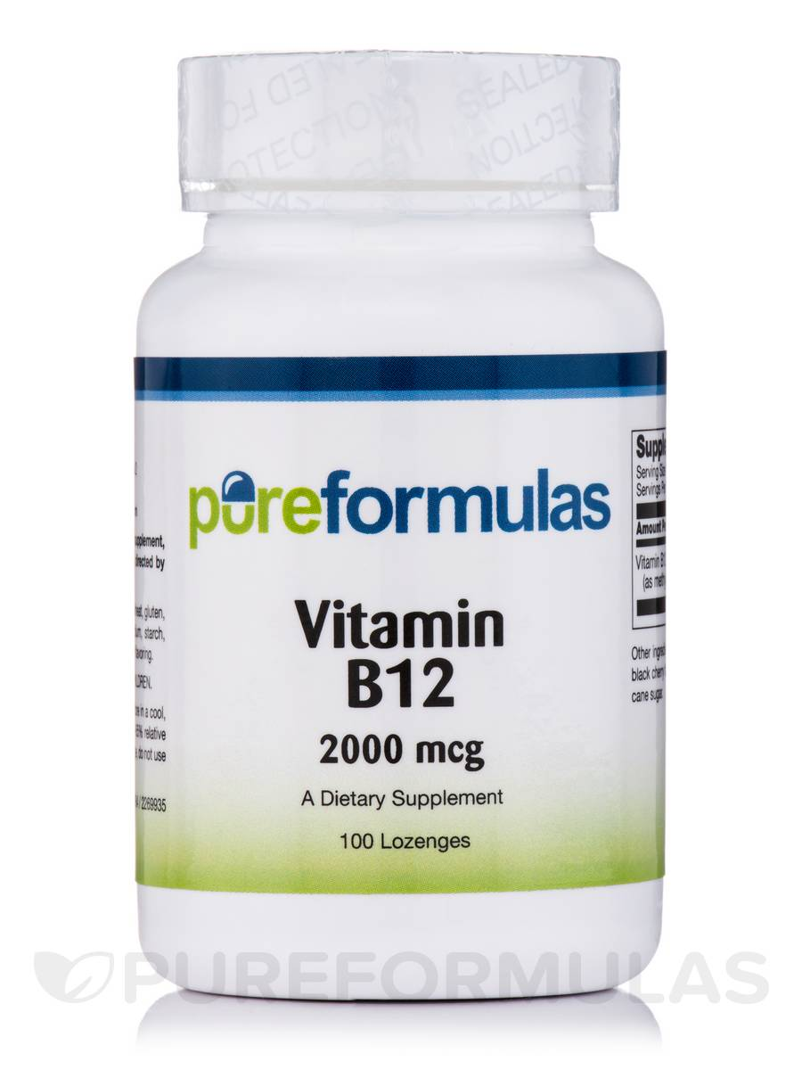 Vitamin B12 2,000 mcg - 100 Dissolvable Lozenges