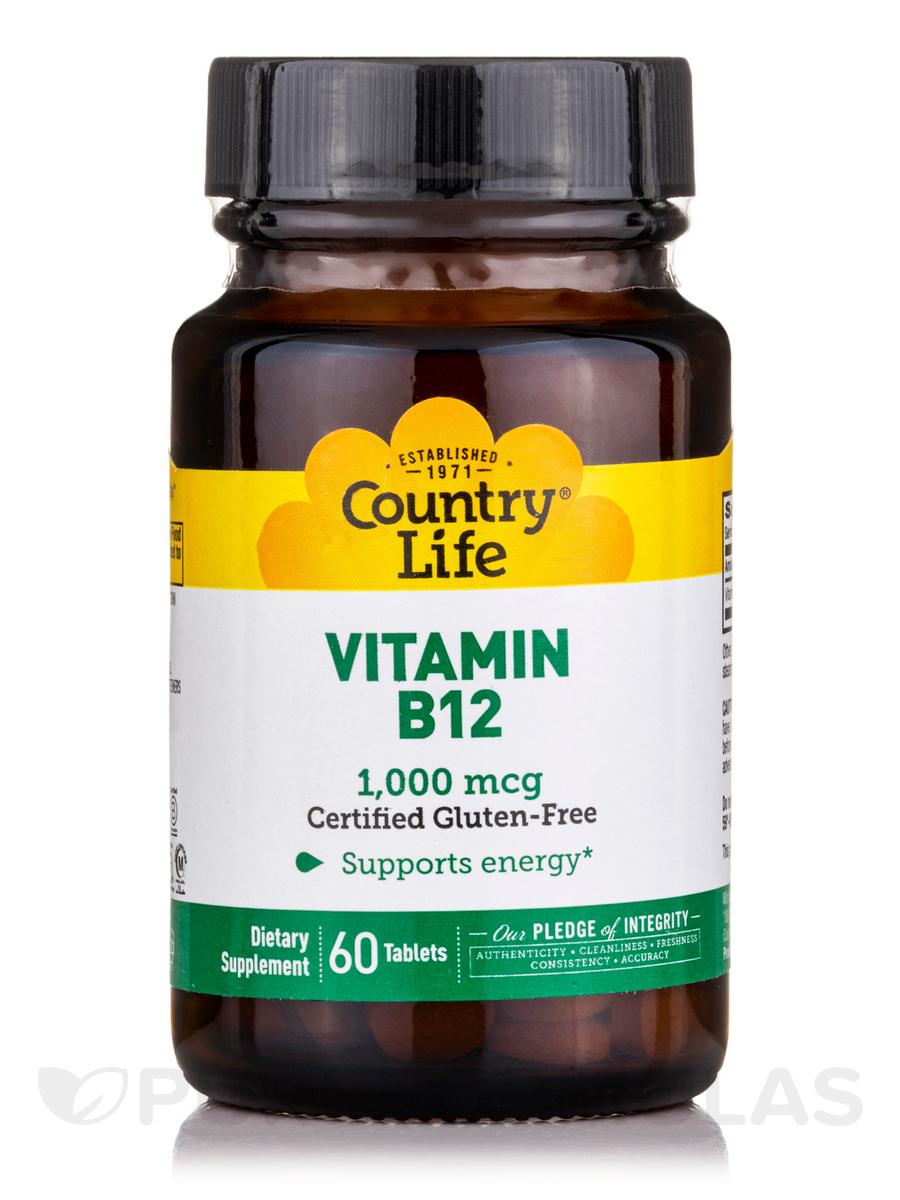 Vitamin B12 1000 mcg - 60 Tablets