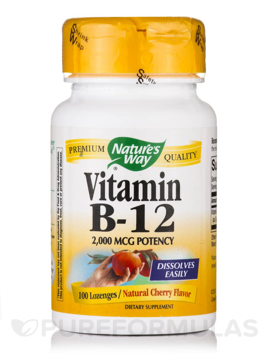 Vitamin B-12 2000 mcg (Natural Cherry Flavor) - 100 Lozenges