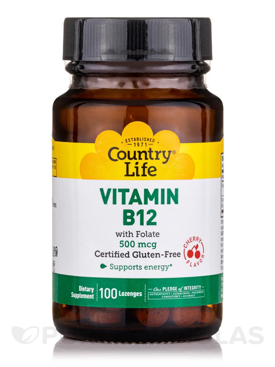 Vitamin B12 500 mcg Sublingual (Cherry Flavor) - 100 Lozenges