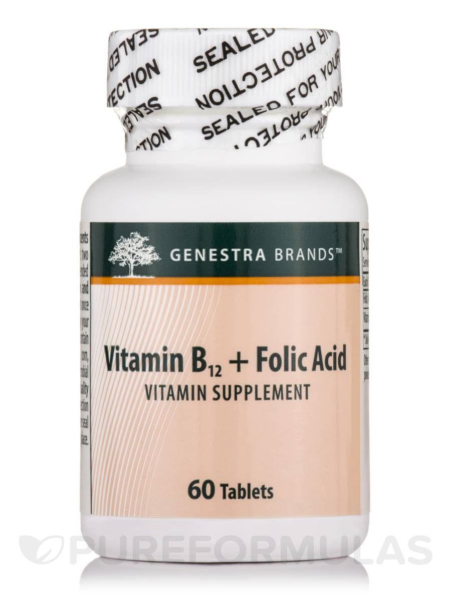 Vitamin B12 + Folic Acid - 60 Tablets