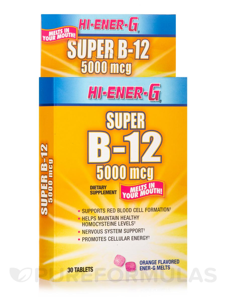 Vitamin B12 Hi-Ener-G 5000 mcg - 30 Tablets
