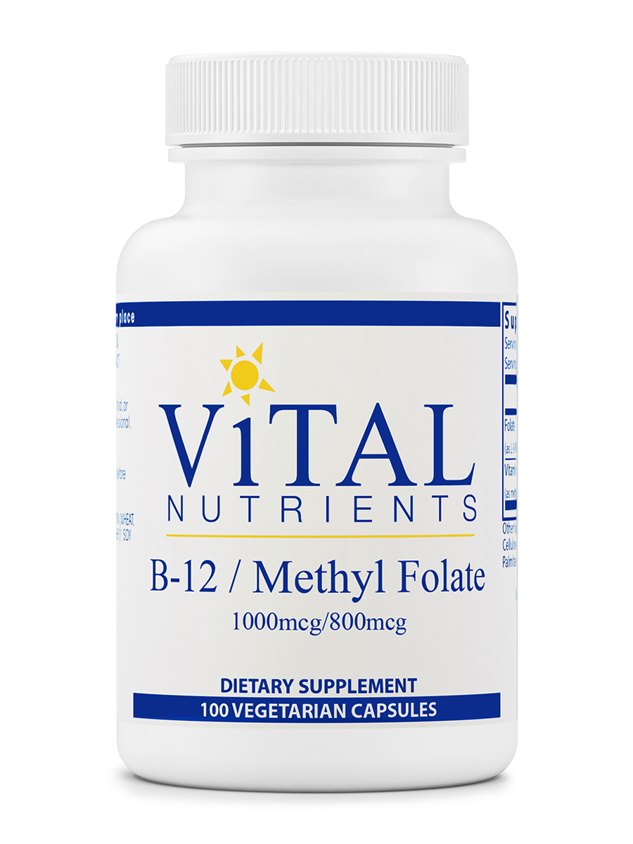 B12 / Folate (1000 mcg / 800 mcg) - 100 Vegetable Capsules