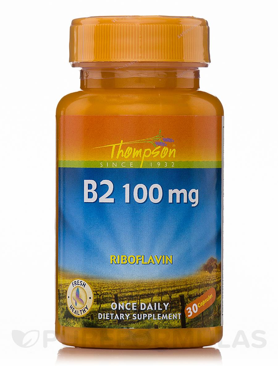 Vitamin B2 100 mg (Riboflavin) - 30 Capsules