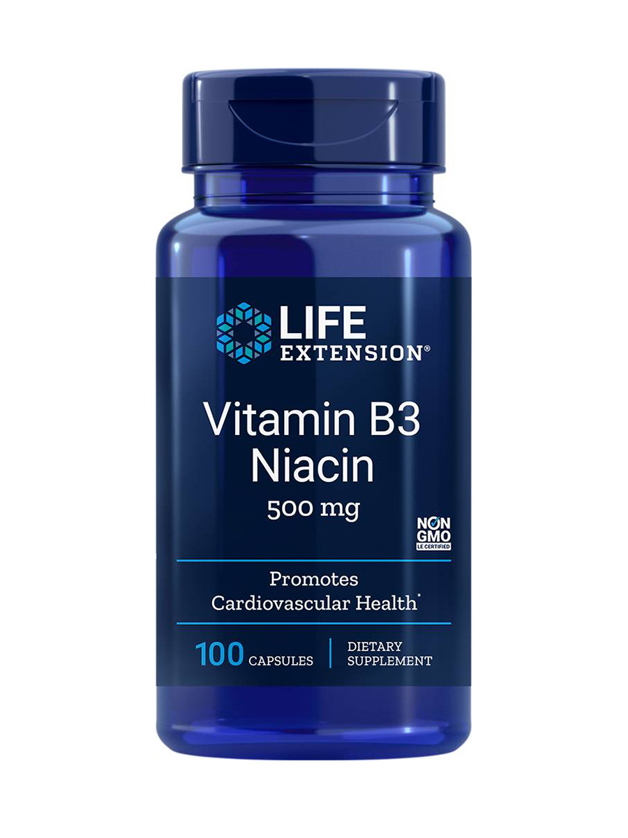 Vitamin B3 Niacin 500 mg - 100 Capsules