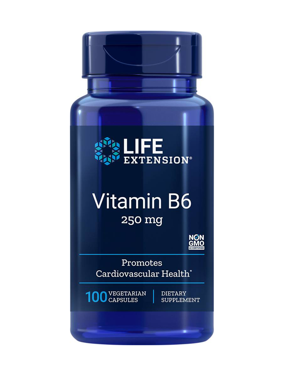 Vitamin B6 250 mg - 100 Vegetarian Capsules