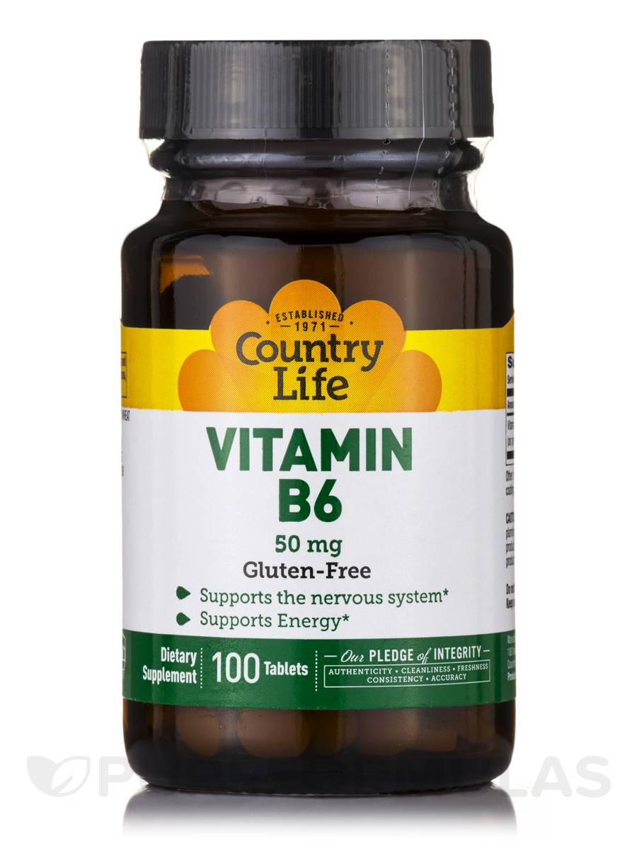 Vitamin B6 50 mg - 100 Tablets