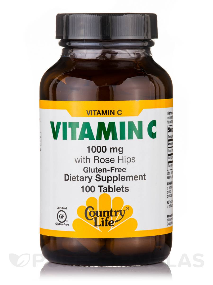 Vitamin C 1000 mg with Rose Hips - 100 Tablets