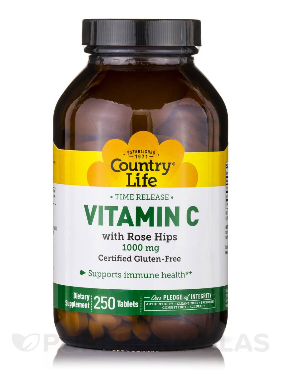 Vitamin C 1000 mg with Rose Hips TR - 250 Tablets