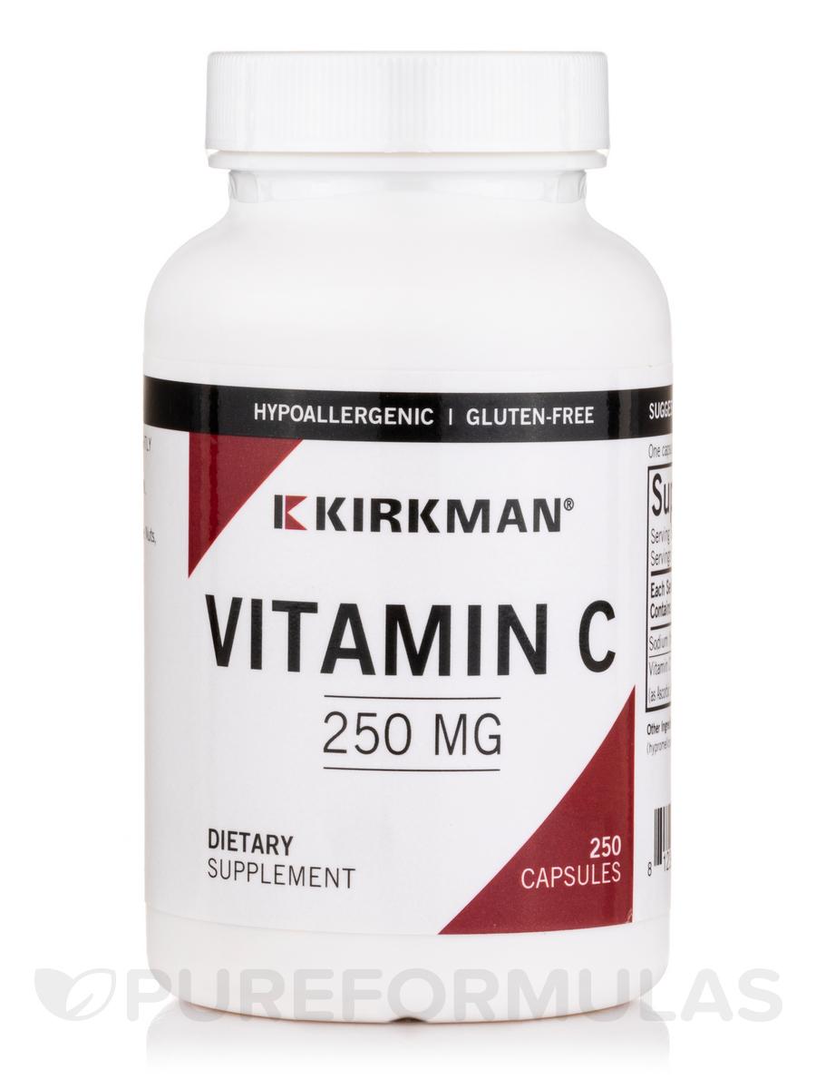 Vitamin C 250 mg -Hypoallergenic - 250 Capsules