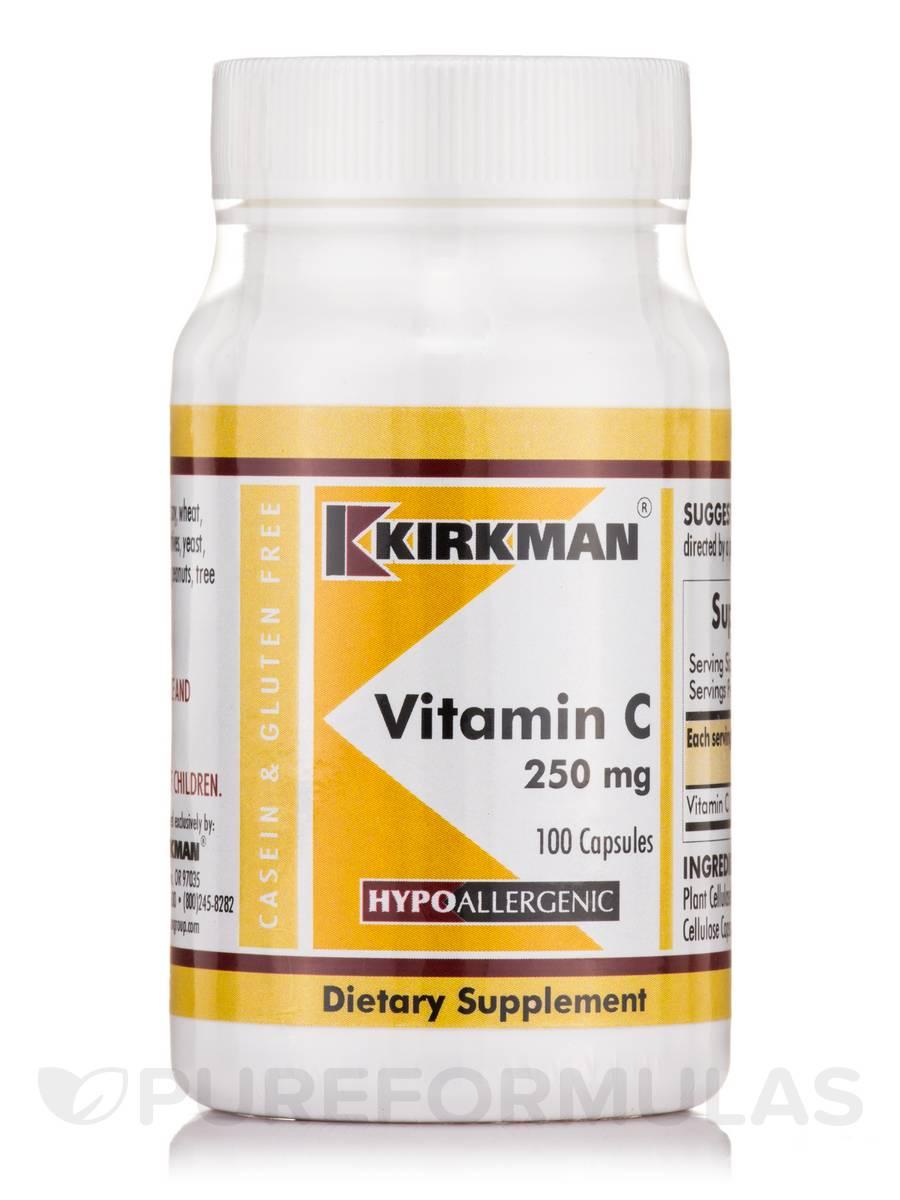 Vitamin C 250 mg -Hypoallergenic - 100 Capsules