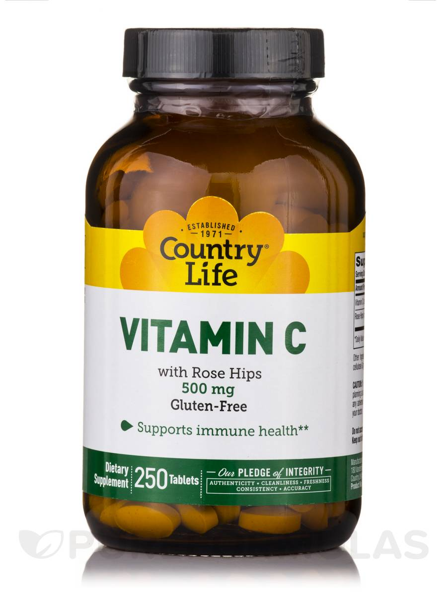 Vitamin C 500 mg with Rose Hips - 250 Tablets