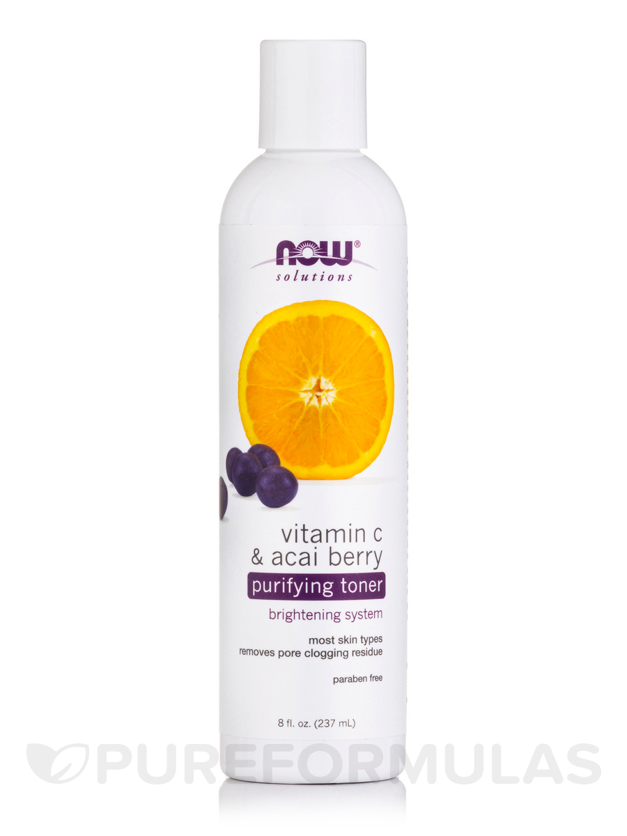 NOW® Solutions - Vitamin C & Acai Berry Purifying Toner - 8 fl. oz (237 ml)