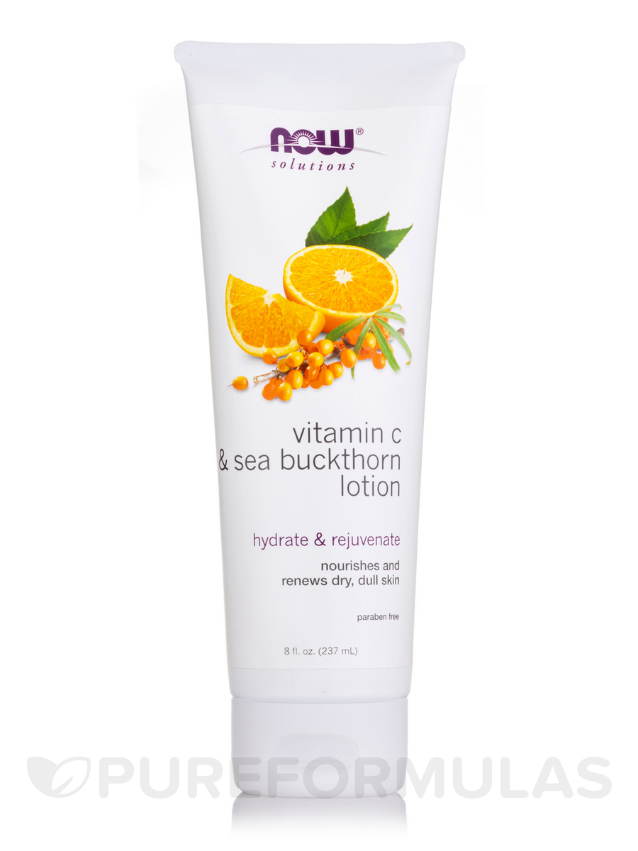 NOW® Solutions - Vitamin C and Sea Buckthorn Body Lotion - 8 oz (237 ml)