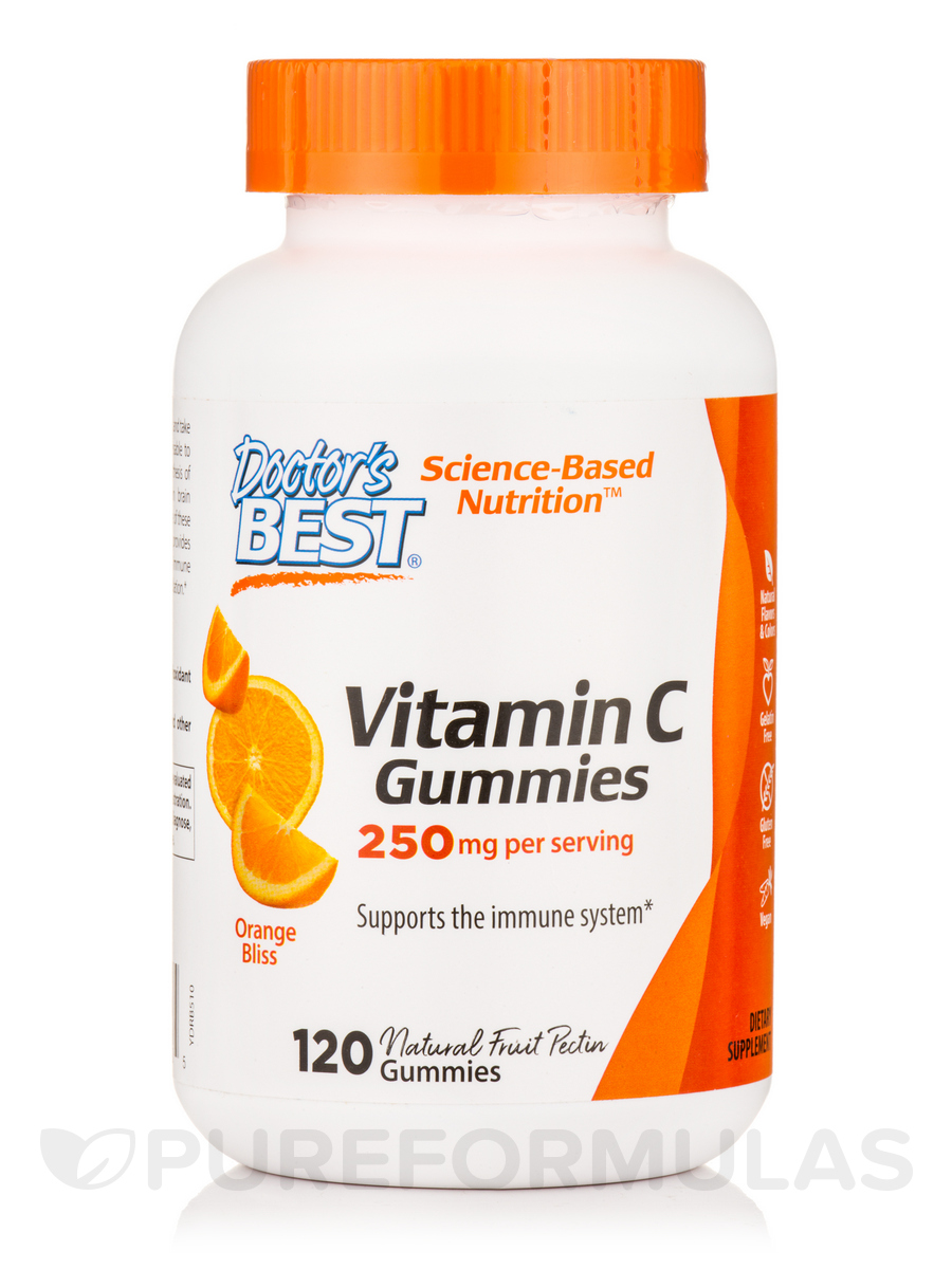 Vitamin C Gummies 250 mg, Orange Bliss - 120 Gummies