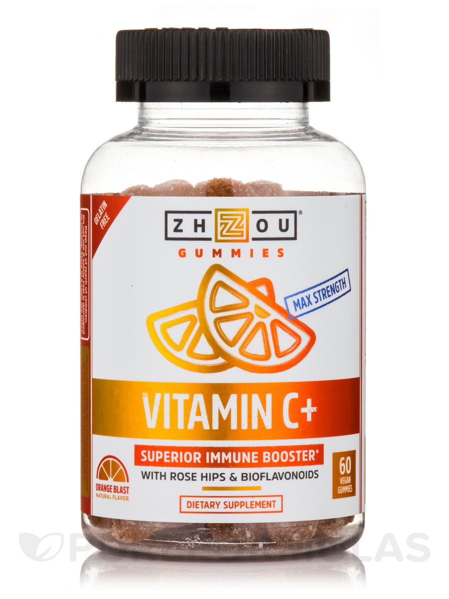 Vitamin C+ Gummies, Orange Natural Flavor - 60 Vegan Gummies