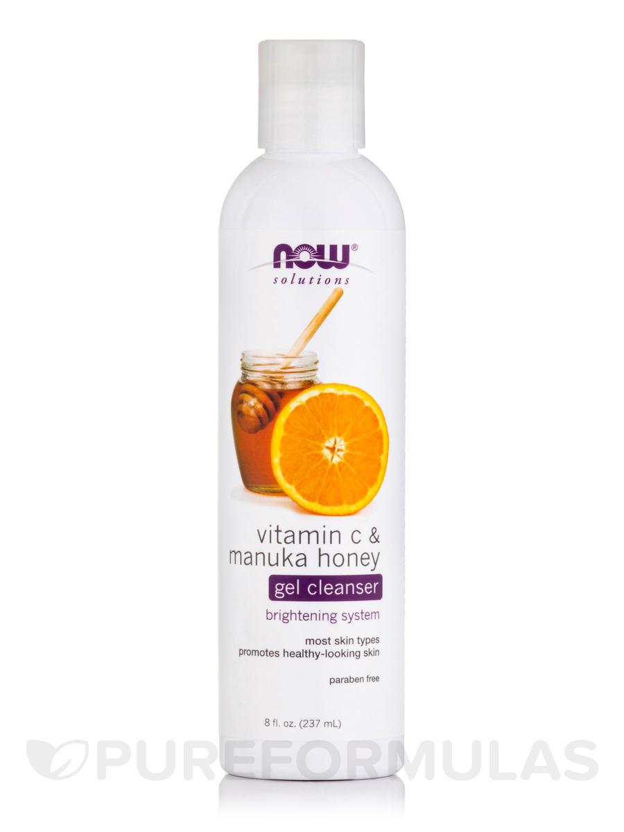 NOW® Solutions - Vitamin C & Manuka Honey Gel Cleanser - 8 fl. oz (237 ml)