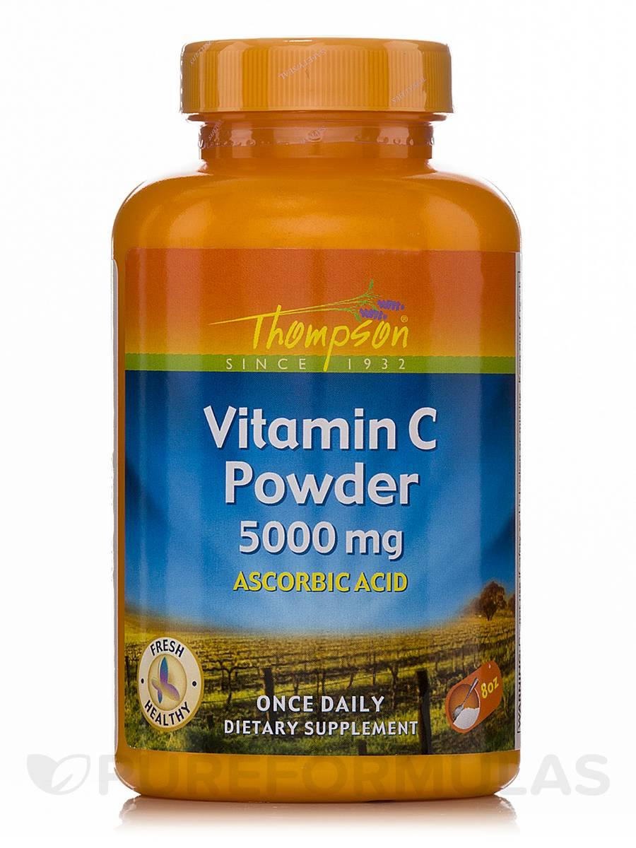 Vitamin C Powder 5000 mg (Ascorbic Acid) - 8 oz