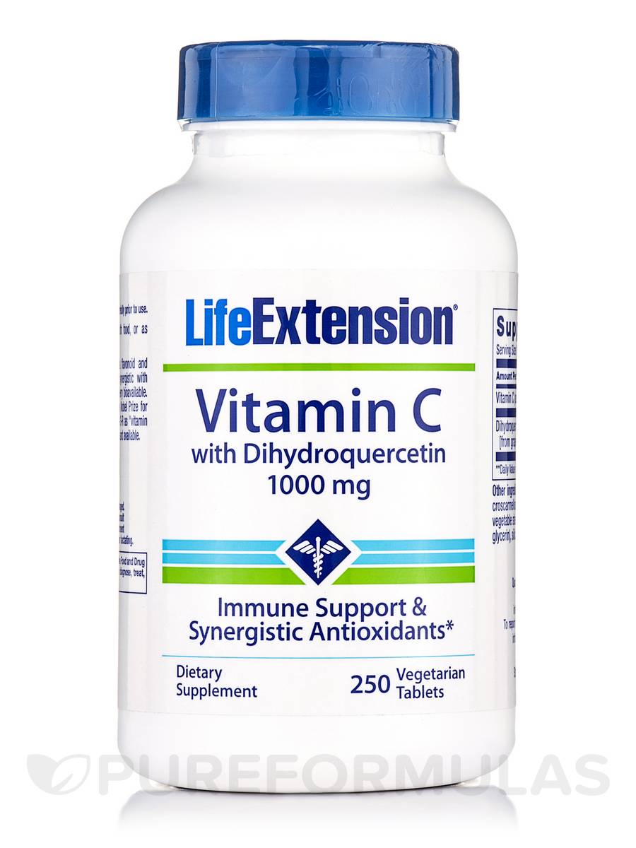 Vitamin C with Dihydroquercetin 1000 mg - 250 Vegetarian Tablets