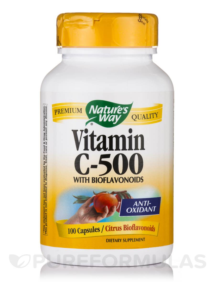 Vitamin C-500 with Bioflavonoids - 100 Capsules