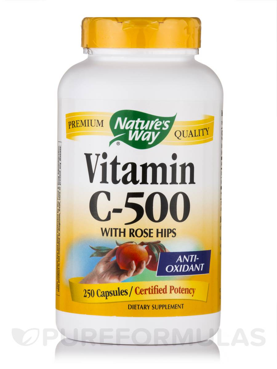 Vitamin C-500 with Rose Hips - 250 Capsules