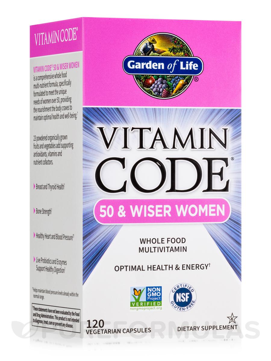 Vitamin Code® - 50 & Wiser Women's Multi - 120 Vegetarian Capsules