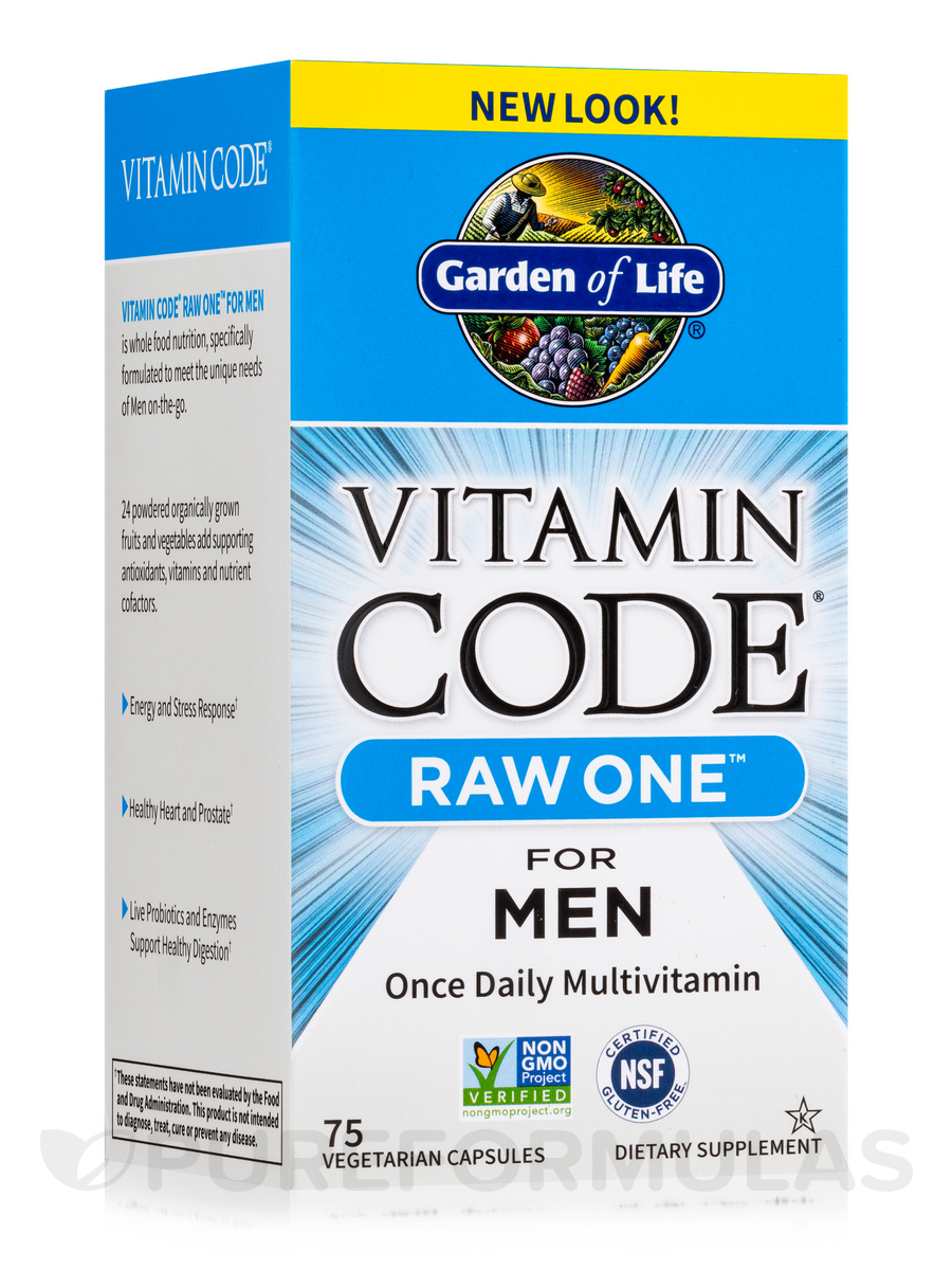 Vitamin Code® - RAW One for Men - 75 Vegetarian Capsules