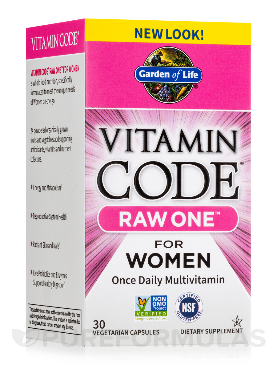 Vitamin Code® - RAW One for Women - 30 Vegetarian Capsules